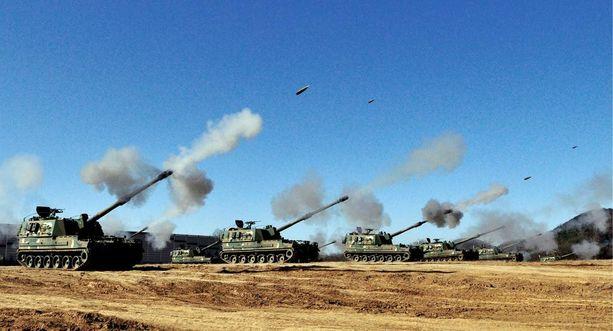 K9-panssarihaupitsi kulkee lähes seitsemääkymppiä.