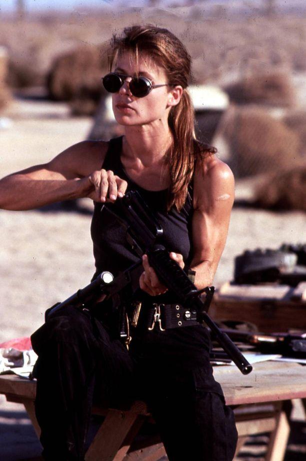Linda Hamilton teki ikimuistoisen roolisuorituksen Terminator 2 -elokuvassa.