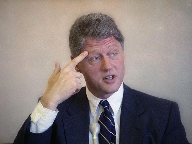 Bill Clinton ymmärsi vuoden 1992 vaaleissa, että äänestäjät olivat tyytymättömiä taloutensa tilaan ja peittosi istuvan presidentin George H.W. Bushin. Kuva vuodelta 1991.