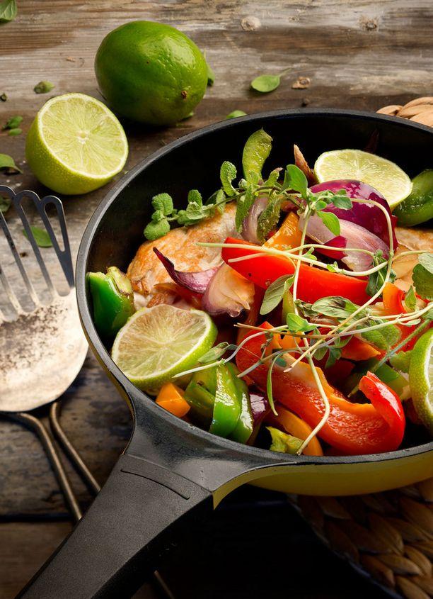 Broileriwokki on runsas ja mehevä ruoka.