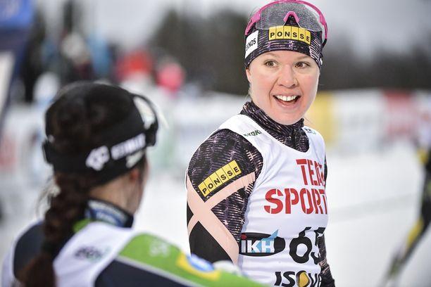 Kerttu Niskanen taipui lauantaina Rovaniemellä vapaalla hiihtotavalla 10 kilometrin kisassa 30,1 sekuntia Krista Pärmäkoskelle.