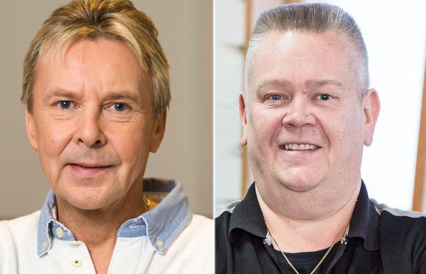 Aki Palsanmäki yritti houkutella Matti Nykästä ohjelmaansa mukaan kaikin keinoin.