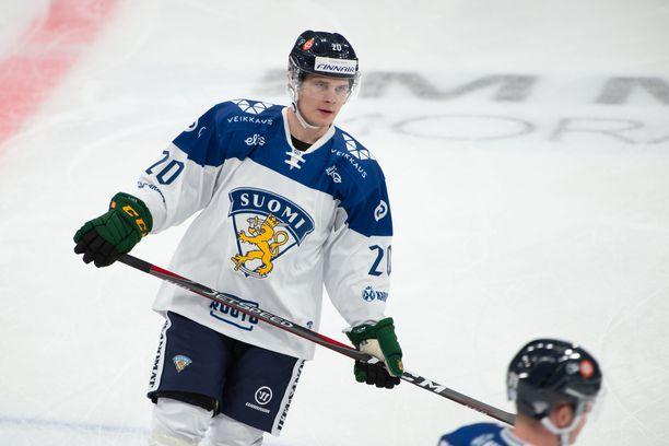 Arttu Ruotsalainen teki maalin ensimmäisessä A-maaottelussaan.