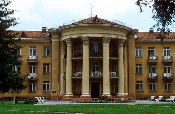 Kuvan Draugystes Sanatorija on Druskininkain perinteisempiä kylpylävaihtoehtoja.