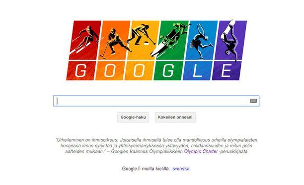 Google tänään.