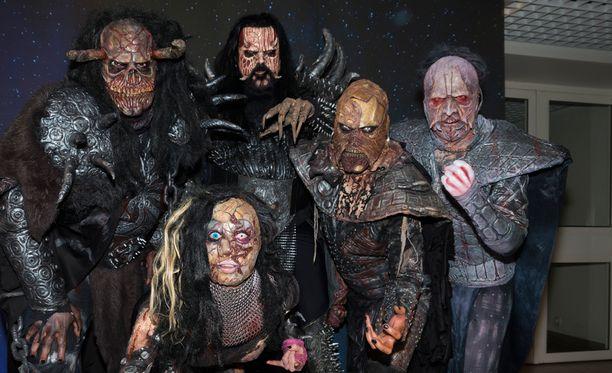 Lordi juhli Euroviisujen voittoa vuonna 2006.