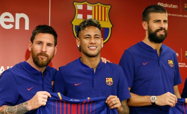 Lionel Messi, Neymar ja Gerard Piqué promosivat Barcelonaa Japanissa aiemmin tässä kuussa.