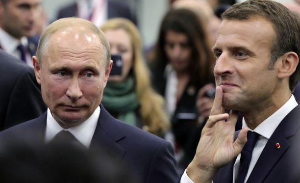 Venäjän presidentti Vladimir Putin keräsi kunnian hyvin sujuneista jalkapallon MM-kisoista, jotka Ranska lopulta voitti.