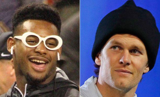 JuJu Smith-Schuster, 21, naljaili kuudetta Super Bowl -sormustaan jahtaavalle Tom Bradylle, 40.