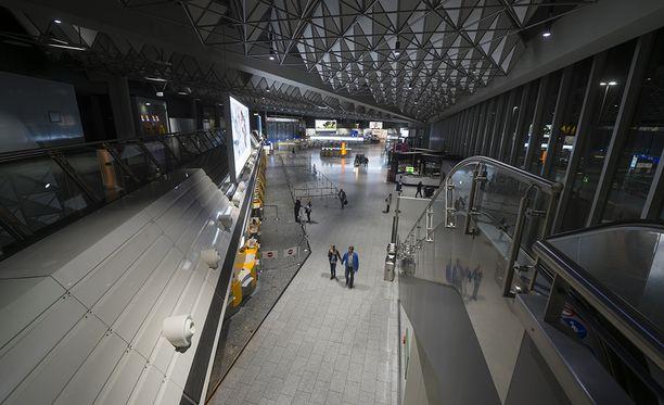 Kuvituskuva Frankfurtin lentokentältä Saksasta.