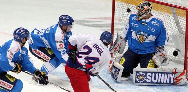 Zbynek Irgl on rankaissut Suomea kahdella maalillaan.