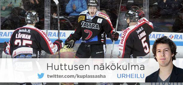 Markus Hännikäinen näyttää, minkälainen on JYPin peli-ilme.