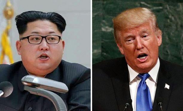 Pohjois-Korean johtaja Kim Jong-un ja Yhdysvaltain presidentti Donald Trump ovat ajautuneet keskinäiseen sanasotaan.