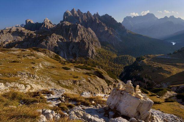 Misuran laakso Dolomiiteilla Italiassa.