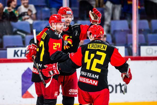 Petri Kontiola ja Nicklas Jensen (keskellä) pelaavat jälleen yhdessä.