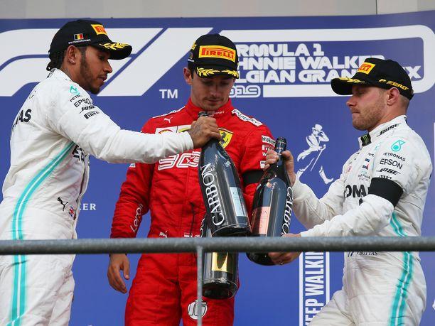 Ferrarin Charles Leclerc nappasi Belgian GP:ssä uransa ensimmäisen F1-osakilpailuvoiton. Mercedeksen Lewis Hamilton oli toinen ja Valtteri Bottas kolmas.