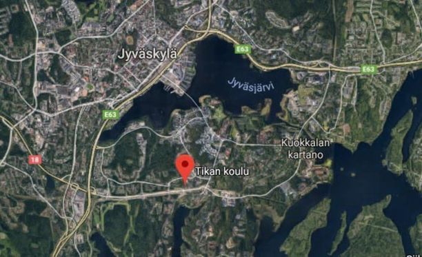 Tikan koulu on yksi Jyväskylän Tikan pientaloasuinalueen maamerkeistä.
