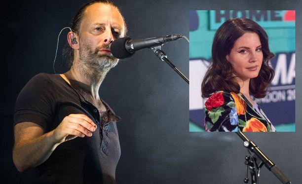 Radiohead nokkamiehensä Thom Yorken johdolla on haastanut pop-tähti Lana Del Reyn oikeuteen.