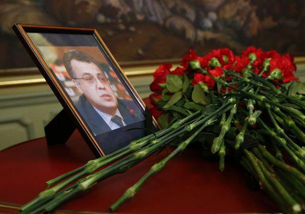 Suurlähettiläs Karlovin kuva Venäjän ulkoministeriössä Moskovassa joulukuussa.