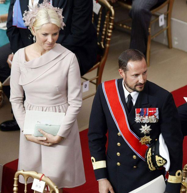 Norjan kruununprinsessa Mette-Marit ja kruununprinssi Haakon.