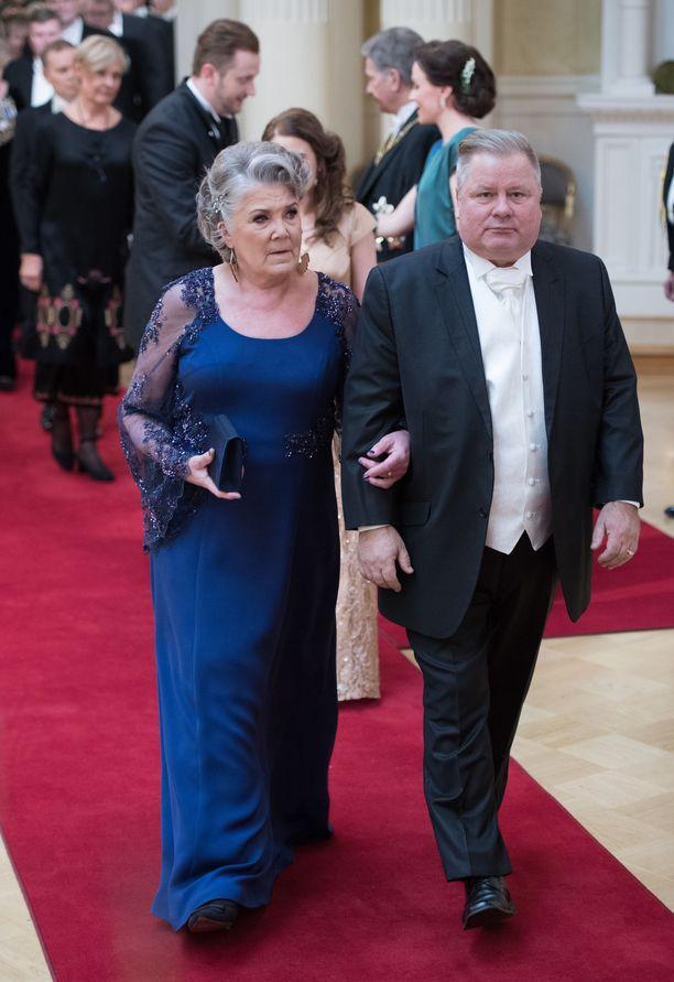 Eija ja Heikki Hursti Linnan juhlissa vuonna 2017.