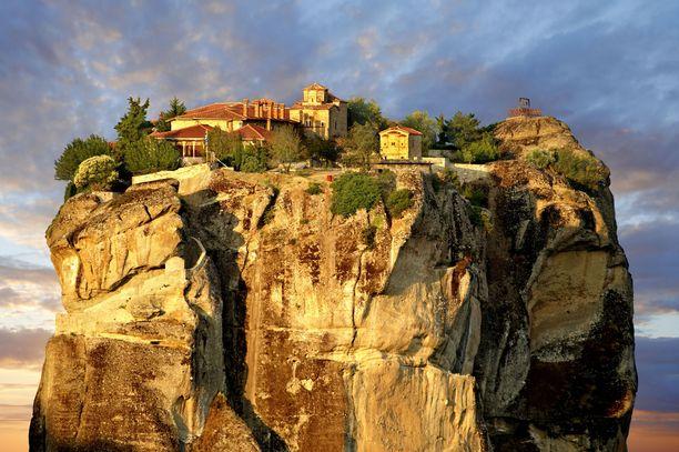 Pyhän kolminaisuuden luostari on yksi Meteoran ihmeistä.