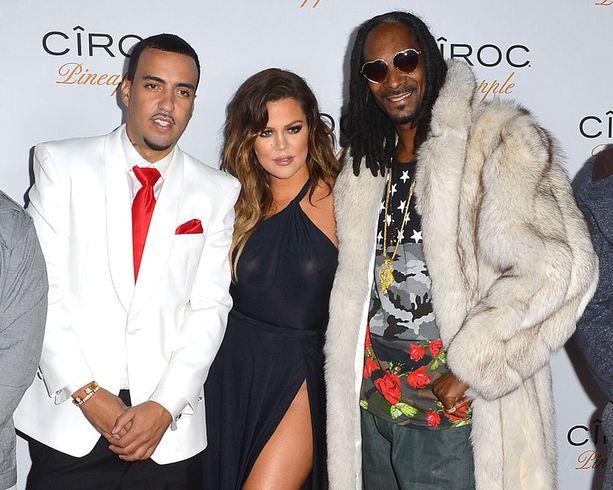 French Montana, Khloé Kardashian ja räppäri Snoop Dogg Frenchin synttäreillä marraskuussa.