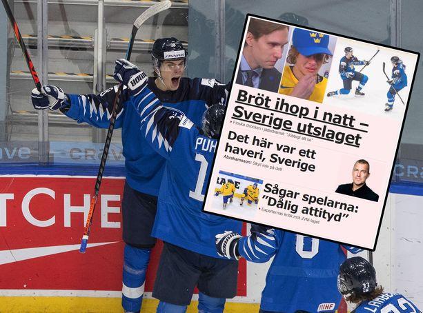 Ruotsalaismediat ovat kritisoineet Ruotsin esitystä Nuoria Leijonia vastaan MM-kisojen puolivälierässä.