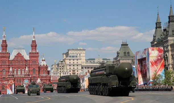 Moskovassa nähtiin muun muassa mannertenvälisiä RS-24 Yars -ohjuksia.