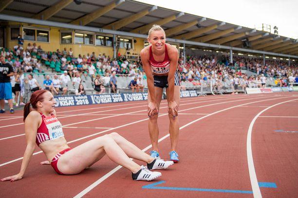Annimari Korte on Reetta Hurskeen (vas.) mielestä hyvin sinnikäs urheilija.