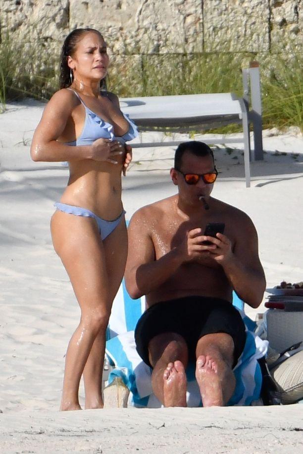 Jennifer Lopez ja Alex Rodriguez Bahamalla.