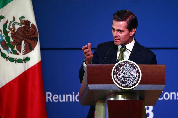 Meksikon presidentti Enrique Peña Nieto on kritisoinut kovin sanoin Trumpin politiikkaa.