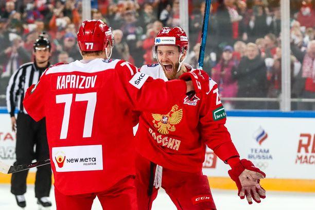 Venäjän maalijuhlat aloittivat Kirill Kaprizov ja Mihail Grigorenko.