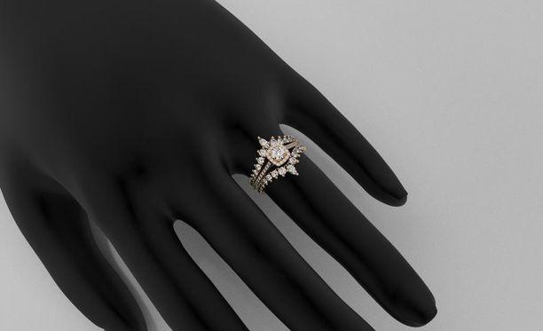 Kihlasormuksen voi päivittää kehystämällä sen uusilla sormuksilla.