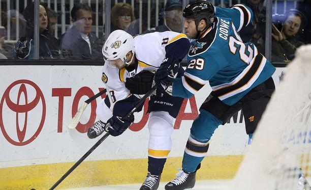 San Josessa parhaat vuotensa pelannut Ryane Clowe teki NHL:ssä pisteet 112+197.
