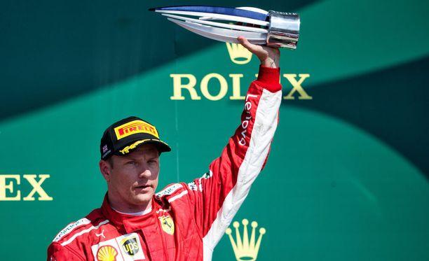 Kimi Räikkönen on noussut kesällä podiumille kiitettävän useasti.