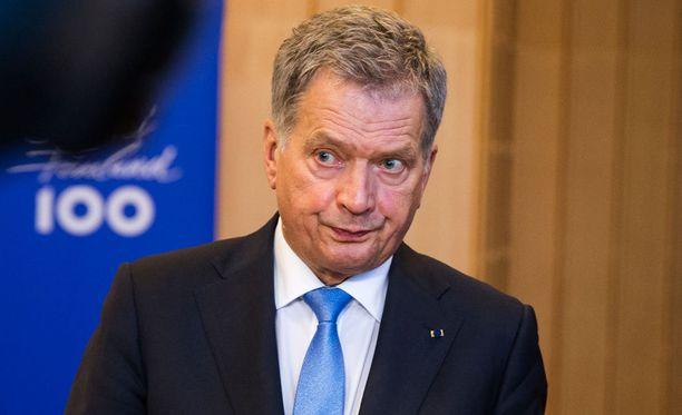 Tasavallan presidentti Sauli Niinistö on parhaillaan vierailulla Berliinissä. Arkistokuva.