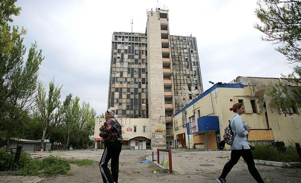 Kuva Donetskista kesäkuulta.