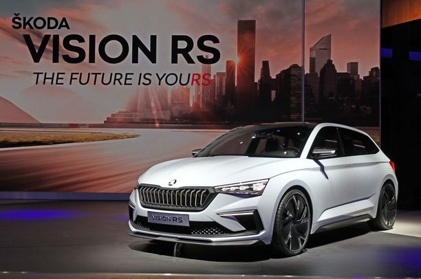 Skodan uutuusmalli esitellään tuotantomallina jo tämän vuoden puolella. Konseptiversio Vision RS on esillä Pariisin autonäyttelyssä.