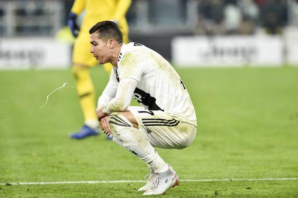 Cristiano Ronaldo turhautui.