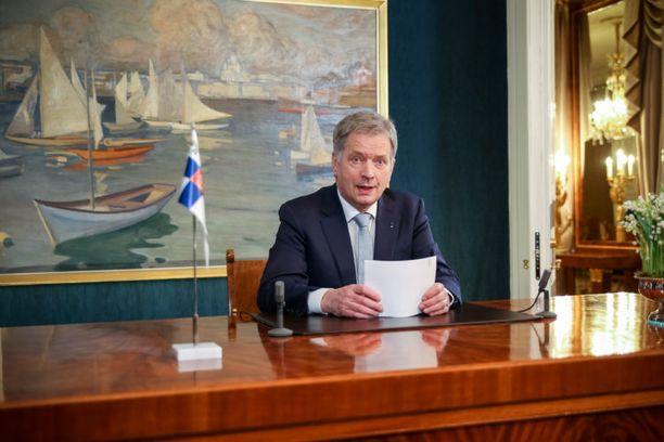 Tasavallan presidentti Sauli Niinistö puhui perinteisesti kansalaisille uudenvuodenpäivänä.