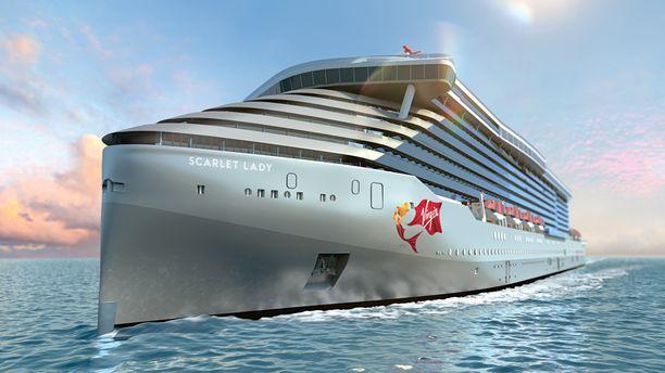 Virgin Voyages -yhtiön ensimmäinen risteily alus Scarlet Lady saadaan vesille ensi vuonna.