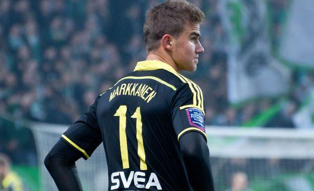 AIK:n Eero Markkanen pelaa tänään Helsingissä.