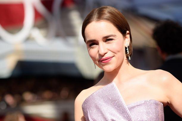 Emilia Clarke helmikuussa 2019.
