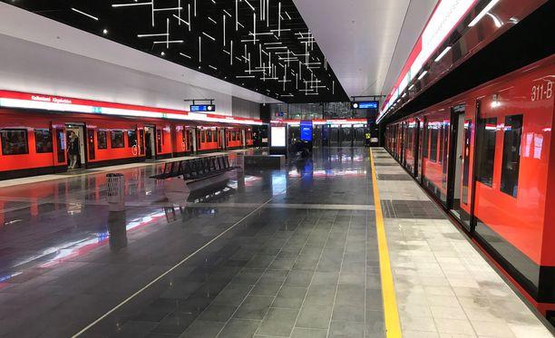 Metrot seisoivat myös viime marraskuussa Keilaniemessä.