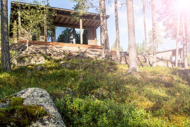 Glass House -mökki on käpylehmiä edullisempi huonevaihtoehto.