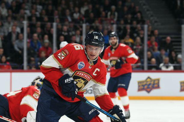 Aleksander Barkov oli torstaina Helsingissä yksi näkyvimmistä pelaajista.