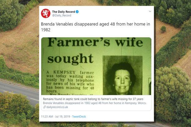 Brenda Venablesin 36 vuotta vanhan katoamistapauksen uskotaan viimein selvinneen.