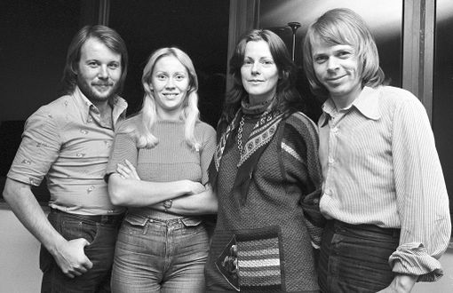 "Abba vuonna 1977: Benny Andersson, Agnetha Faeltskog, Anni-Frid ""Frida"" Lyngstad ja Björn Ulvaeus."