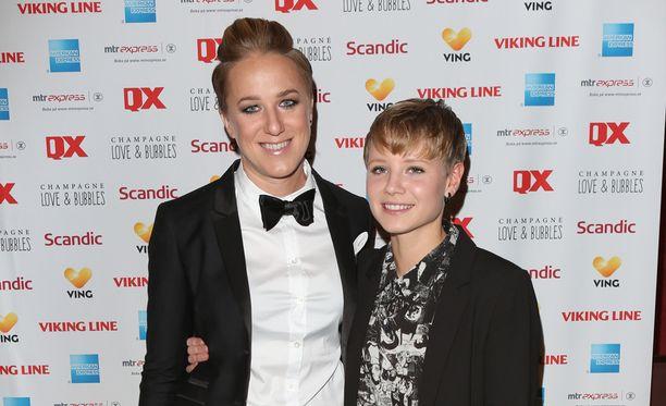 Kajsa Bergqvistin ja Hanna Hanven häitä juhlittiin Tukholmassa.
